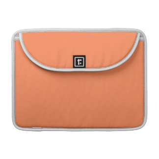 Solid Nectarine Orange Sleeve For MacBook Pro