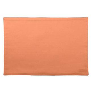 Solid Nectarine Orange Table Mat