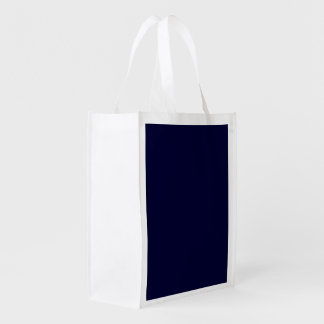Solid Nightwatch Blue color Grocery Bags