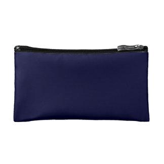 Solid Nightwatch Blue color Makeup Bag