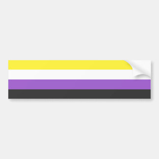 Solid Non-Binary Pride Flag Bumper Sticker