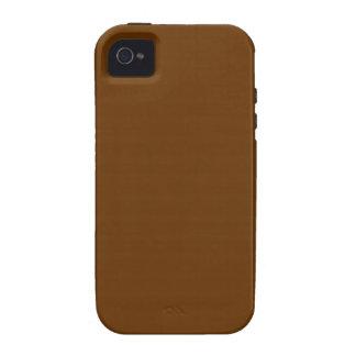 Solid Nutmeg Brown Monogram Case-Mate iPhone 4 Case