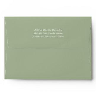Solid Olive Green Envelope