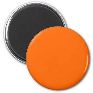 Solid Orange Background Color FF6600 2 Inch Round Magnet