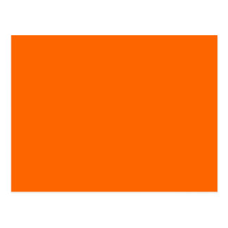 Solid Orange Background Color FF6600 Postcard
