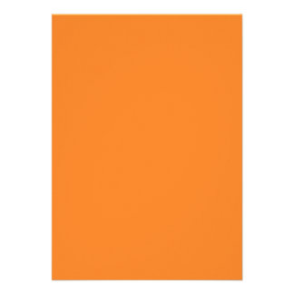 Solid Orange Invitation