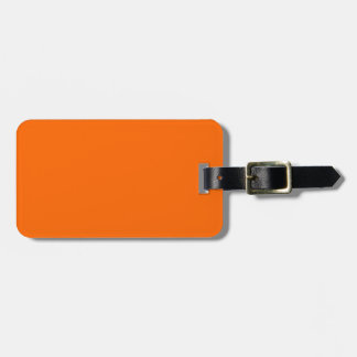 Solid Orange Luggage Tag