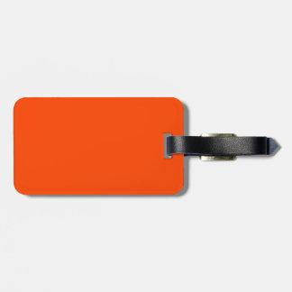 Solid Orange Red Bag Tag