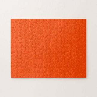 Solid Orange Red Jigsaw Puzzles
