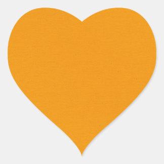 solid-orange SOLID ORANGE BRIGHT SUMMER CANTELOPE Heart Sticker