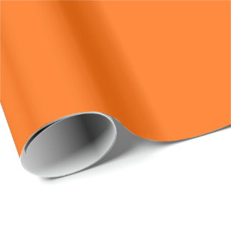 Solid Orange Gift Wrapping Paper