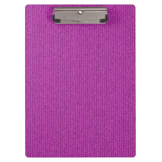 Solid Orchid Knit Stockinette Stitch Clipboard
