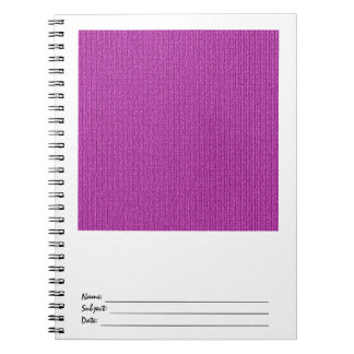 Solid Orchid Knit Stockinette Stitch Spiral Notebook