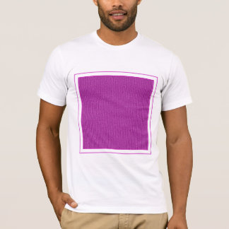 Solid Orchid Knit Stockinette Stitch T-Shirt