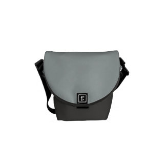 Solid Paloma Gray Courier Bag