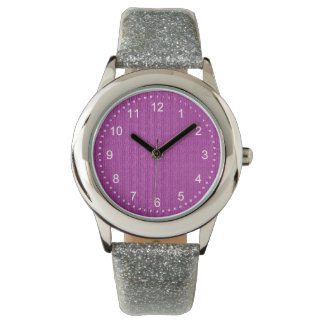 Solid Pastel Orchid Knit Stockinette Stitch Wrist Watches