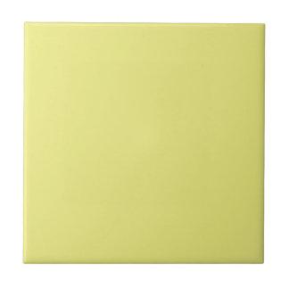 Solid Pastel Yellow Ceramic Tile