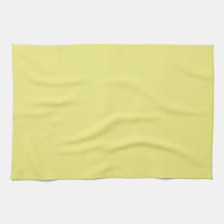 Solid Pastel Yellow Kitchen Towel