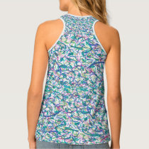 Solid, patterned, pink, hot pink, blue, tank