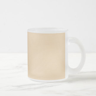 solid-peach SOLID LIGHT PEACH ORANGE BACKGROUND TE Frosted Glass Coffee Mug