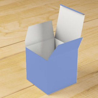 Solid Perwinkle Blue Favor Box