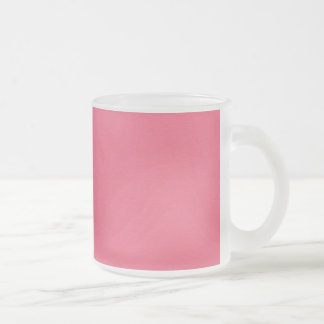 solid-pink2 SOLID GIRLY PINK BACKGROUNDS TEMPLATES Frosted Glass Coffee Mug