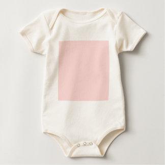 Solid Pink Background Web Color FFCCCC Baby Bodysuit