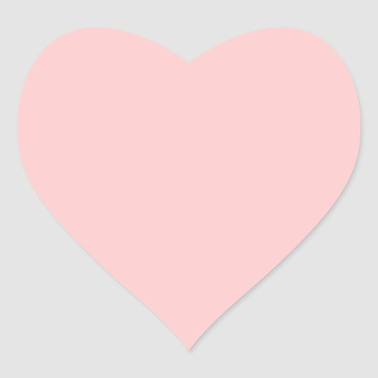 Solid Pink Background Web Color FFCCCC Heart Sticker