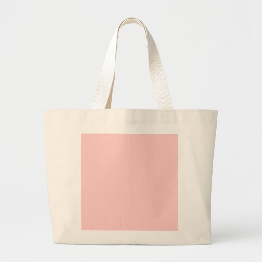 Solid Pink Background Web Color FFCCCC Large Tote Bag
