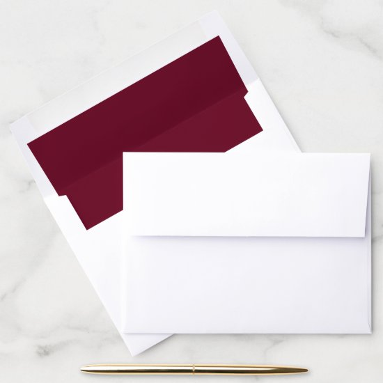 Solid Plain Burgundy Envelope Liner