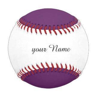Solid PLUM Baseball