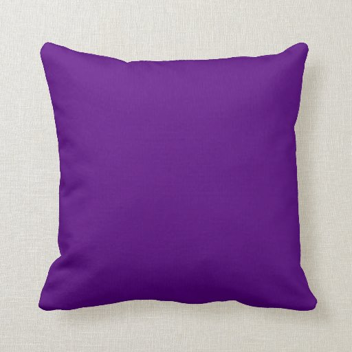 Solid Plum Purple Reversible Diamond Set Accent Throw Pillow