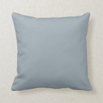 Solid Pop of Color Steel Grey Blue Throw Pillow