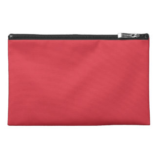 Solid Poppy Red Travel Accessories Bag