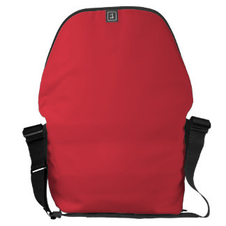Solid Poppy Red Courier Bag