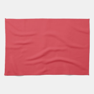 Beautiful Solid Poppy Red Kitchen Towel