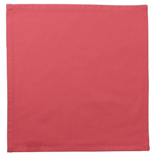 Solid Poppy Red Printed Napkins