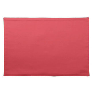 Solid Poppy Red Table Mat