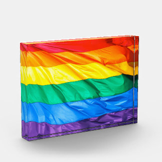 Solid Pride - Gay Pride Flag Closeup Award