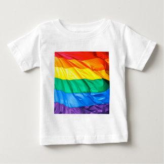 Solid Pride - Gay Pride Flag Closeup Baby T-Shirt
