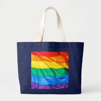 Solid Pride - Gay Pride Flag Closeup Large Tote Bag