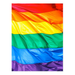 Solid Pride - Gay Pride Flag Closeup Postcard