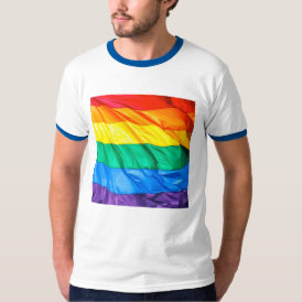Solid Pride - Gay Pride Flag Closeup T-Shirt