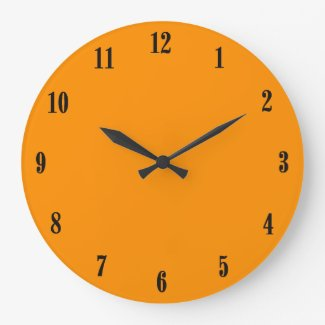 Solid Princeton Orange Large Clock