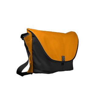 Solid Princeton Orange Small Messenger Bag