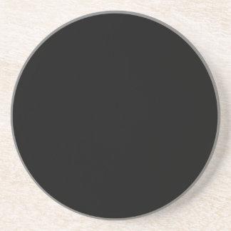 solid pure black coaster