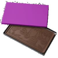 Solid PURPLE 2 Pound Milk Chocolate Bar Box