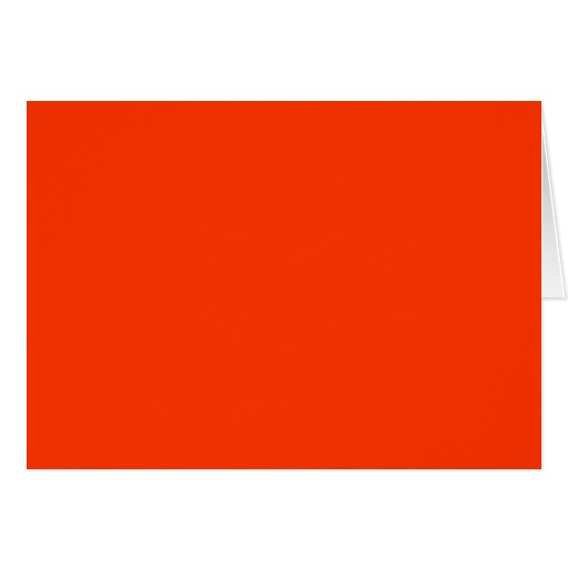 Solid Red Background Web Color FF3300 Cards