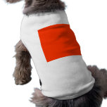 Solid Red Background Web Color FF3300 Dog T-shirt