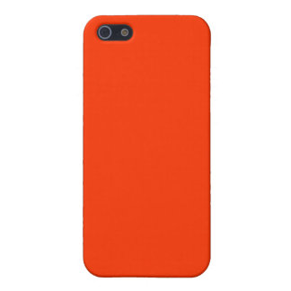 Solid Red Background Web Color FF3300 iPhone 5 Case